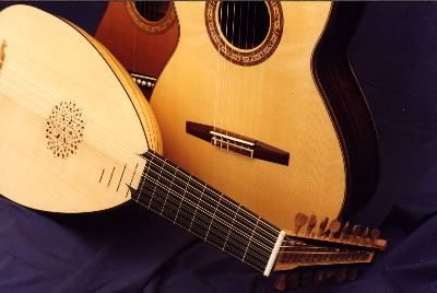 A Lute, Classical and Parlour guitars