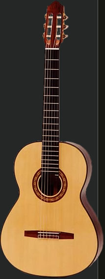 Full view of a Classical guitar