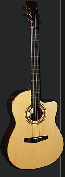 Full view of the 06 Retro guitar